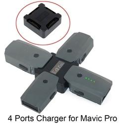 4 in1 Mavic Pro de administrador de carga paralela de accesorios adaptador de cargador con pantalla Digital para DJI Mavic Pro drone