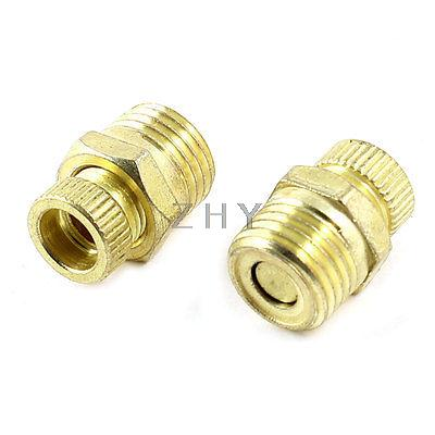 Air Compressor 1/4 PT Male Threaded Metal Water Drain Valve 2 PCS 13mm male thread pressure relief valve for air compressor
