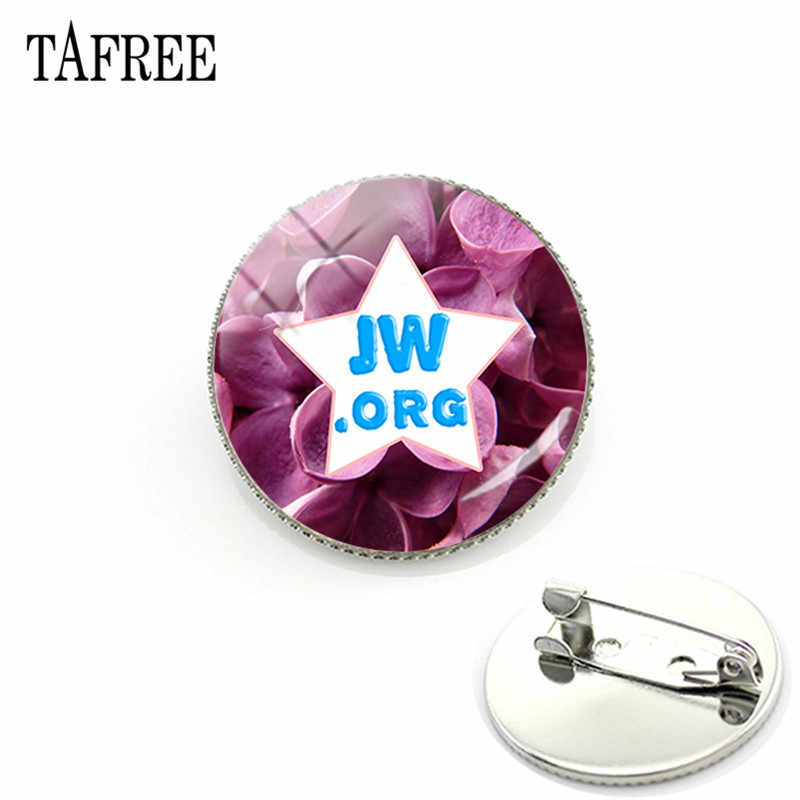 TAFREE nueva llegada JW. ORG broches insignia cabujón domo de vidrio Testigos de Jehovah JW pines regalo de broche de joyería JW01