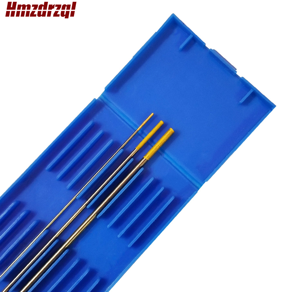 "3 Piece  WL15 0.04""X6"" 1/16""X6"" 3/32"" Lanthanated Tungsten Electrode Head Tungsten Needle  Gold"