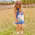 Girls Summer Dress 2017 Cute Kids Costumes Princess Dress with Printed Pattern Baby Dresses for Girls Clothes Disfraz Infantil