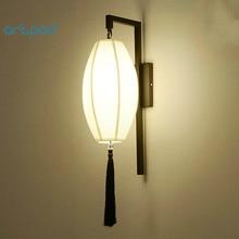 цена на Artpad Retro Traditional Chinese Wall Lamp AC90-260V Fabric Lampshade LED Bedside Living Room Study Home Hotel Decorative Lights