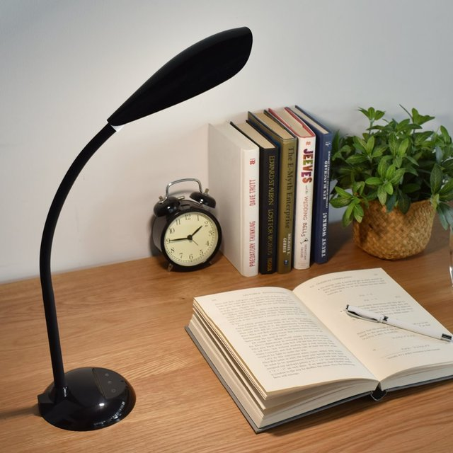 Flexible LED Desk Lamp 3-Level Brightness Touch Sensor Eye-caring Table Light for Kids Reading Writing Studying Soft Warm Light