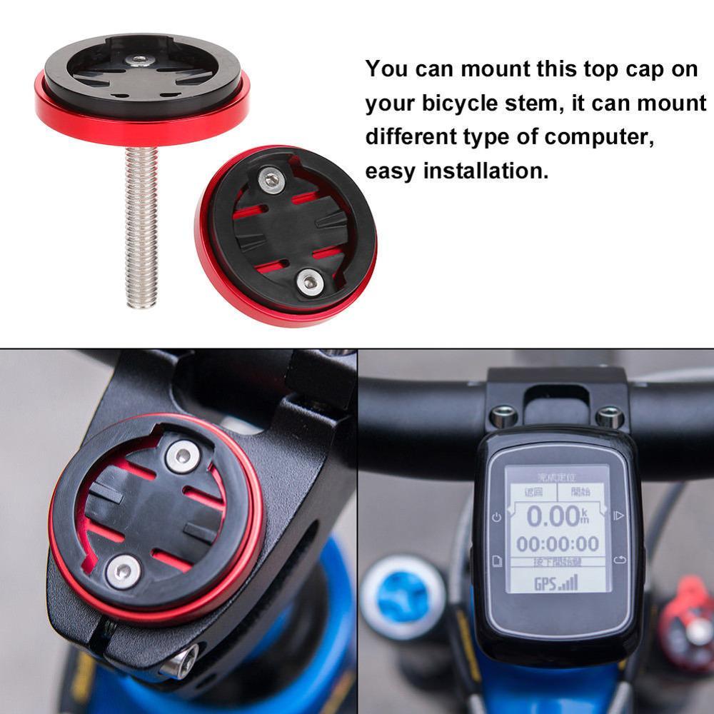MTB Road Cycling Bike Bicycle Stem Top Cap Mount Holder Kit For GARMIN Bryton