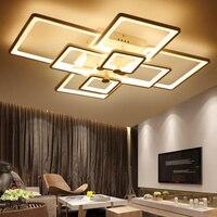 Superfície quadrada montado modernas luzes de teto led para sala estar quarto luminária teto interior casa decorativa|modern led ceiling lights|ceiling lights|light for living room -