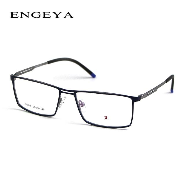 2016 Super Leves dos homens de Metal Vidros Ópticos Quadro, Uinque Pernas Óculos de Marca Designer de Óculos de Prescrição Óculos de Armação Para homens