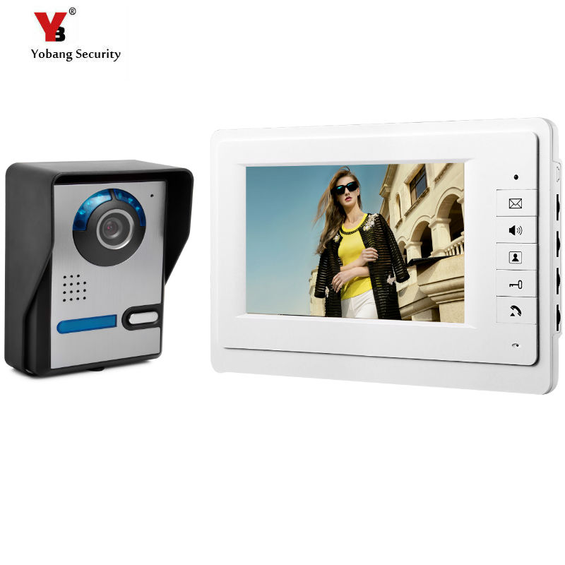 Yobang Security 7 Color Video Door Phone Video Intercom Door Intercom Doorphone IR Night Vision Camera Doorbell Kit yobang security freeship 4 3 inch video door color video monitor kit video intercom and video doorbell ir camera night vision