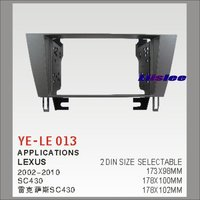 2 DIN Car Refitting Frame Panel For Lexus SC430 2002 2010 Radio Stereo CD DVD Player NAVI Navigation Dashboard ABS Fascias Kits