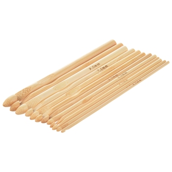 12 x 15 cm Crochet Hooks Knitting Needles Thickness 3-10 mm Bamboo Sewing Tools & Accessory