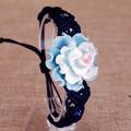 Ceram jewelry, hand-woven ceram flower bracelet, ceram bracelet, butterfly bracelet