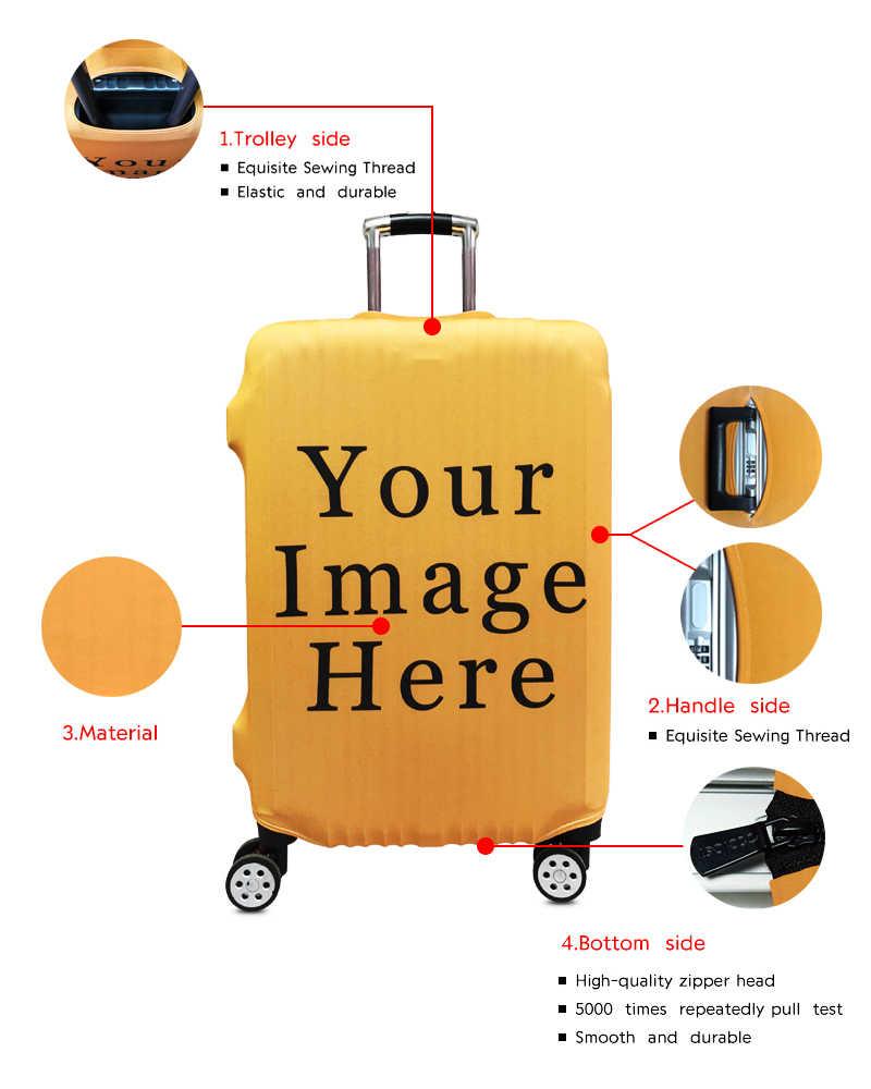 Afro Lady Girl bagaż z nadrukiem okładka brązowe kobiety/afryka piękna księżniczka pokrowce na walizki elastyczna torba podróżna torba na kółkach