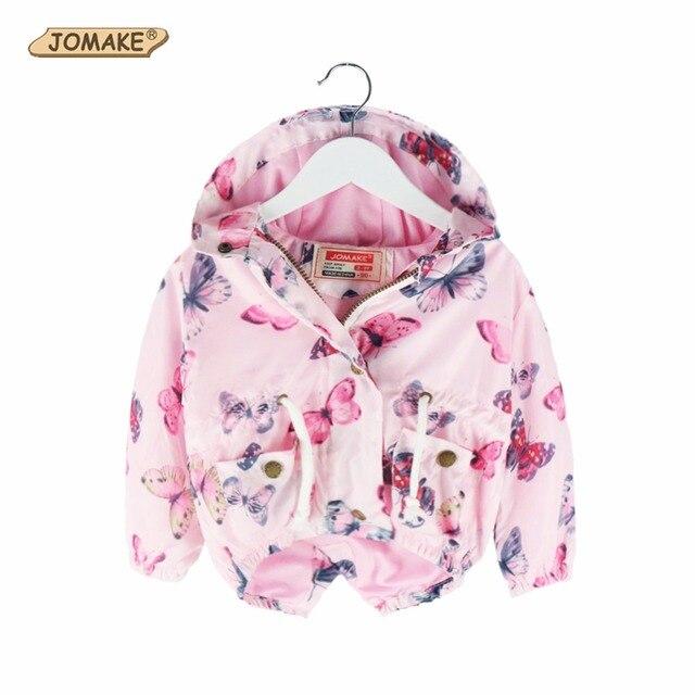 69fd7ccab429 JOMAKE 2018 Spring Jacket Girls Kids Children Girl Butterfly Jackets ...