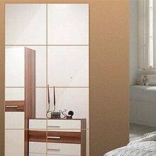 16 Teile/satz Neue 3d Quadratischen Spiegel Fliesen Wandaufkleber Aufkleber  Mosaik Tapeten Schlafzimmer Badezimmer Dekoration Di.