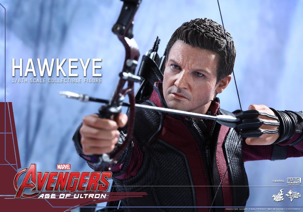 1/6 scale Collectible Figure doll Avengers: Age of Ultron Hawkeye Jeremy Renner 12 action figure doll Plastic Model Toys brand new 1 6 scale avengers age of ultron hawkeye clint barton jeremy renner head sculpt for 12 action figure model toy