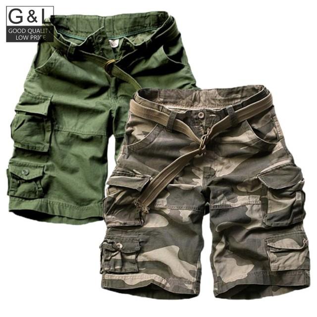 2016 Short Masculino Camuflagem Militar de Carga Dos Homens Shorts Homens de Algodão Soltas Calções Casuais Homens Do Exército Calças Curtas Plus Size