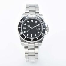 watch Ceramic bezel 40mm black dial Sapphire Glass Automatic miyota 8215 Sterile stainless steel strap L1