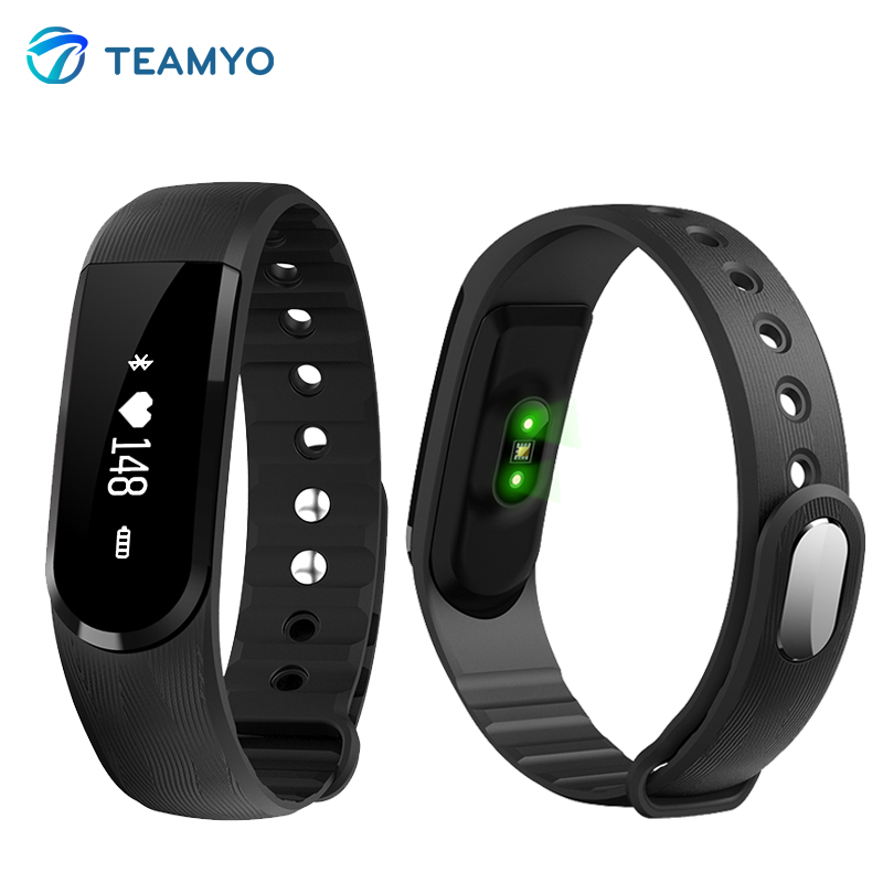 New ID101HR Smart Band ID101 Wrist Bracelet fitness tracker heart rate monitor c