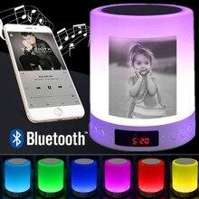 パーソナライズされたフォト夜の光写真カスタムワイヤレス Bluetooth 音楽プレーヤー USB 充電式ウォーム/ランプパーソナライズギフト