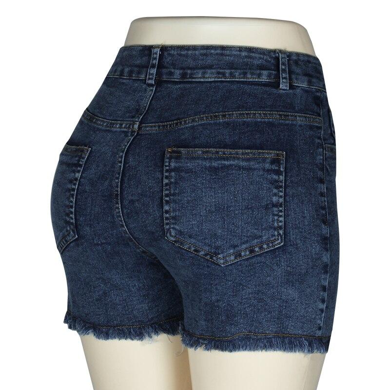 Fashion Women Push Up Skinny Slim Denim Shorts 35