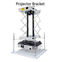 70CM Projector Bracket Motorized Electric Lift Scissors Projector Ceiling Mount Projector Lift With Remote Control