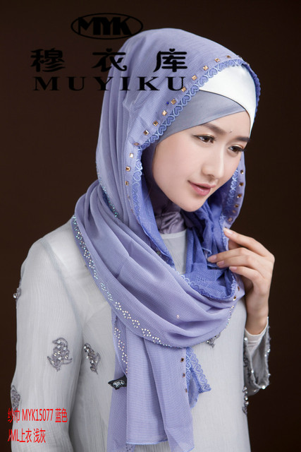 US $18 76 31% OFF Fashion Islam women's brand silk scarf high quality  Turkish style muslim cap hijab for women inner headwear girl's cover  scarf-in