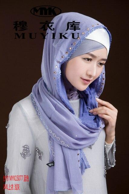 5e4dba381bf6 Mode Islam femmes de marque foulard de soie de haute qualité Turque style  chapeau musulman hijab