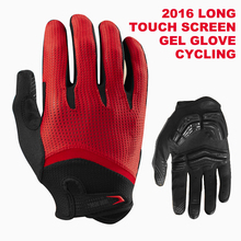 2016 Long Finger Cycling Glove Gel Touch Screen  Mountain Bike Bicycle Gloves for Man Woman MTB BMX DH Off Road Motocross Gloves