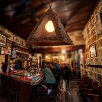 Лофт ретро креативные заклепки люстры для ресторана кафе бар дизайн железные промышленные ветры личность прохода лампы Бесплатная доставк