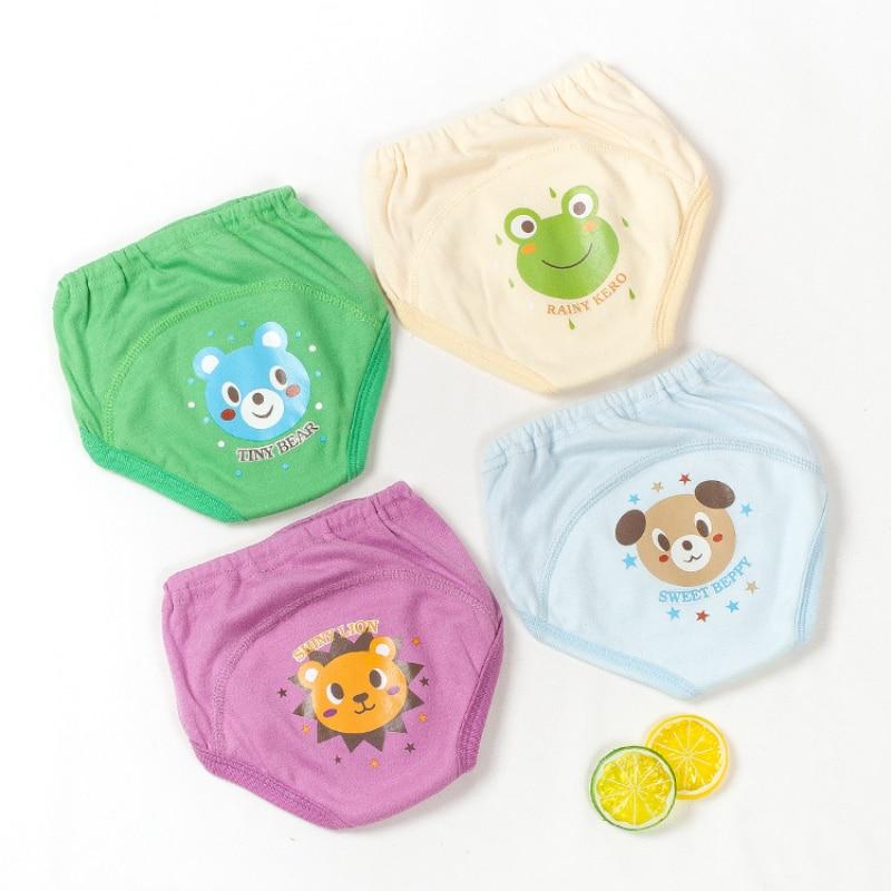 2020 Baby Toddler Girls Boys 4 Layers Waterproof Potty Training Underwear Panties Cloth Diapers Reusable Baby Panties Underpants