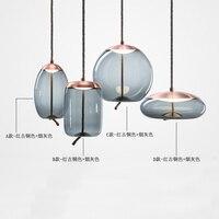 Современный Крытый Открытый подвесные светильники белый стеклянный шар светодиодный подвесной светильник Гостиная Столовая бар домашнег