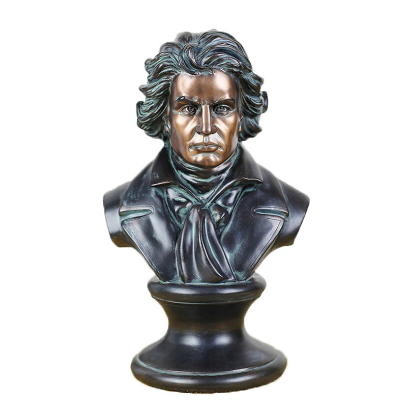 Ludwig van Beethoven Bust Figurine Figure Statue Classical Art Sculpture Resin Craftwork Home Decorations Accessories R202Ludwig van Beethoven Bust Figurine Figure Statue Classical Art Sculpture Resin Craftwork Home Decorations Accessories R202