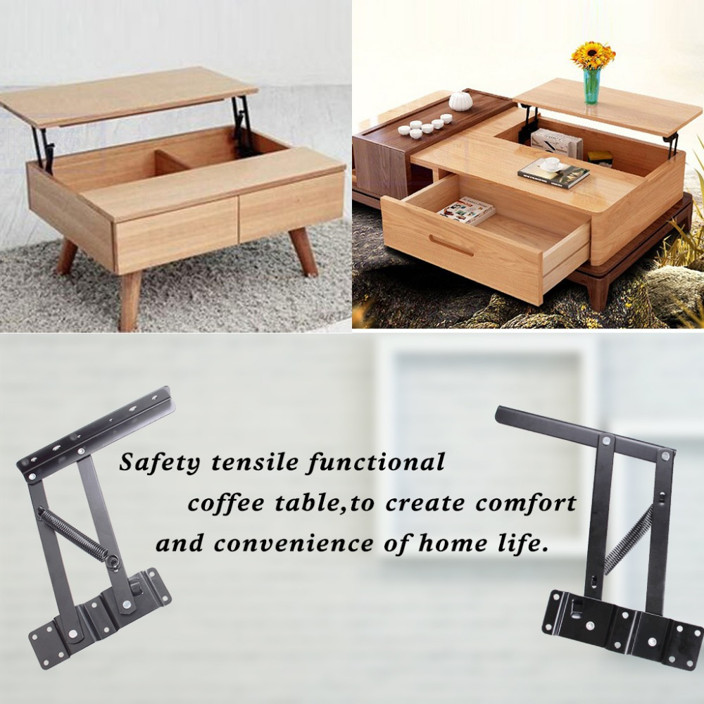 1 X Set Lift Up Top Coffee Table Mechanism Diy Hardware Fitting