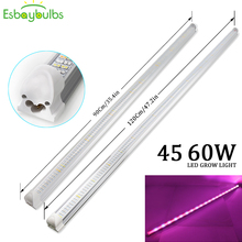3Pcs 45W 90cm 60W 120cm LED Grow light T8 Tube Full Spectrum Lamp Bar Led Strip For Indoor Hydroponics Aquarium Vegs