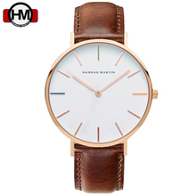 HANNAH MARTIN Watches DW Style Men & Women High Quality Nylon Leather Clock 40cm  Relogio Masculino Femme