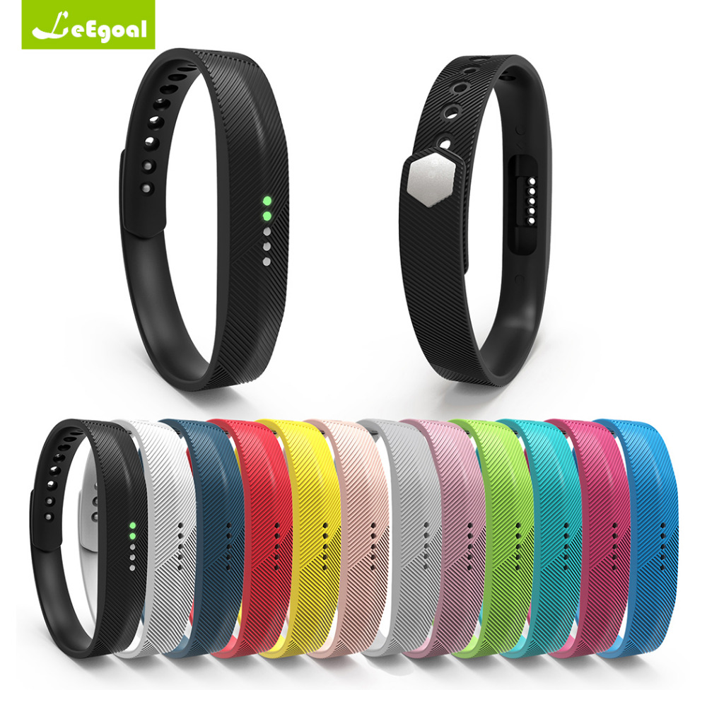 Color Silicone Replacement Wrist Band Strap Bracelet For Fitbit Flex 2 Wristband Smart B ...