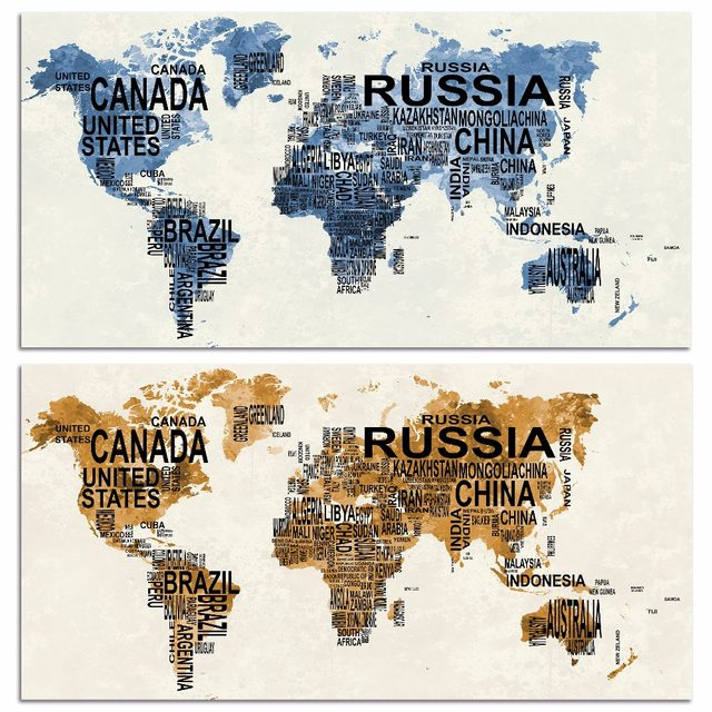 Online shop watercolor exclusive original large size world map watercolor exclusive original large size world map canvas print painting poster art wall pictures for living room home decor gumiabroncs Gallery