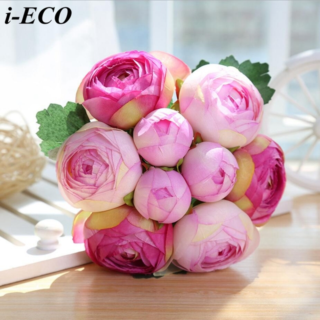 9headsbranch Diy Flower Buds Artificial Lotus Flower Bouquet