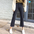 Smokey gris borlas de bohemia flare jeans denim mujer pantalones capri vintage jean femme pantalon vaqueros mujer vaqueros donna
