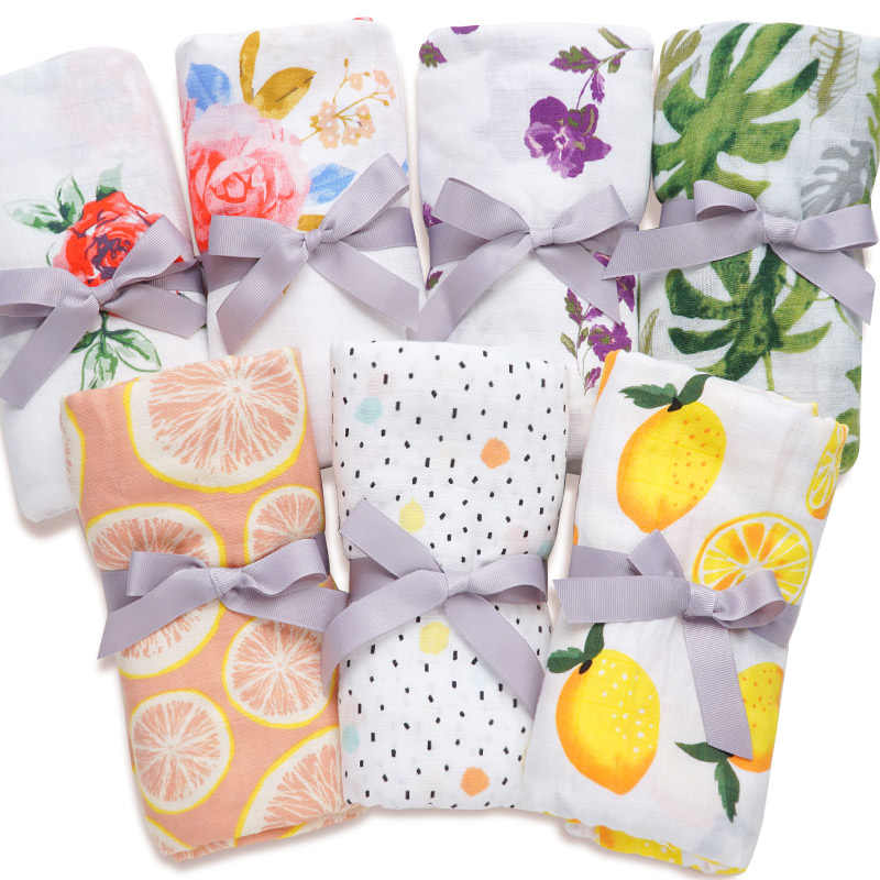 2019 New Style Dropshipping Custom-made Baby Blankets Newborn Muslin Diaper Swaddle Baby Bath Towel Infantil Warp Baby Bed Stuff