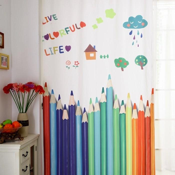 130x250 cm kinderzimmer vorhang fenster vorhänge für baby zimmer ...