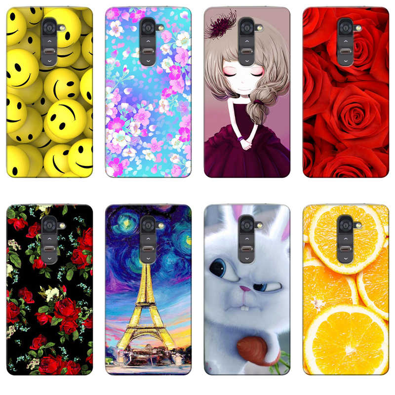 Soft TPU Silicone Back Case for LG Magna H500 G4C G4 mini H525N C90 H520N Cover Luxury Relief Printed Protective Phone Case