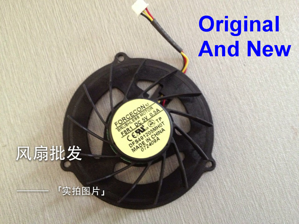 Кулер для процессора ACER Aspire 5737, новый вентилятор для ноутбуков ACER Aspire 5530 5737Z 5733 5530Z 5732 5732Z 5732ZG, бесщеточный двигатель DFS491205MH0T F8R1 0.5A