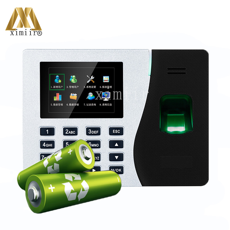 K14 Built-in BatteryTCP/IP Biometric Fingerprint Time Attendance Clock Time Attendance Recorder