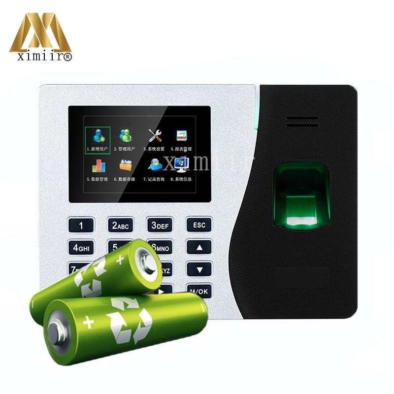 K14 Built-in BatteryTCP/IP Biometric Fingerprint Time Attendance Clock Time Attendance Recorder
