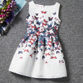 I LEEBAY 2017 Summer Girl Dress Teenager Dresses Kids Cotton Butterfly Print Clothes for Girl Party Birthday Fashion Girl Outfit