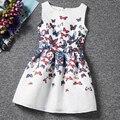 I leebay 2017 verano vestido de la muchacha adolescente vestidos niños de algodón impresión de la mariposa ropa del partido de la muchacha de cumpleaños fashion girl outfit