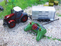 Big RC Trailer Tractor Kids Electric Toy Car Big RC Truck Trailer Children RC Trailer Farm Toy Car With Remote Control