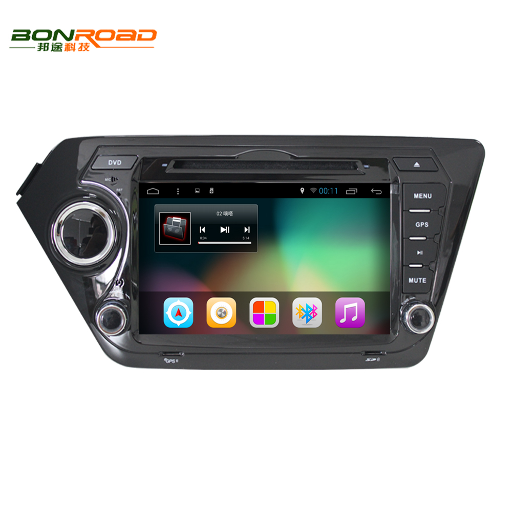 "8"" 2Din Android 4.4 Car DVD Player for Kia K2 Rio 2010 2011 2012 2013 2014 2015 1024*600 GPS Navigation Car Video Player 8G Card"