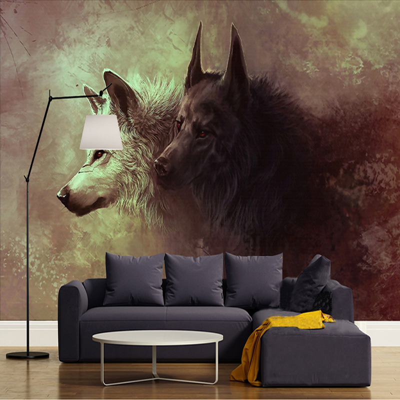 Custom 3D Poster Photo Wallpaper Wolf Totem Wild Wall Painting Modern Living Room Study Bedroom Background Mural Wallpaper Roll