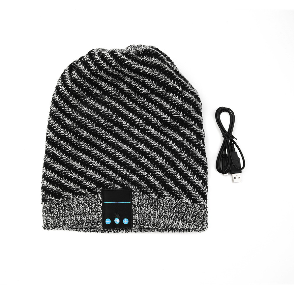 New Fashion Unique Soft Warm Hat Wireless Bluetooth Music Knit Hat with Handsfree Smart Cap Headset For Phones free shipping fashion cool striped wireless bluetooth music knit hat with handsfree smart cap headset top quality